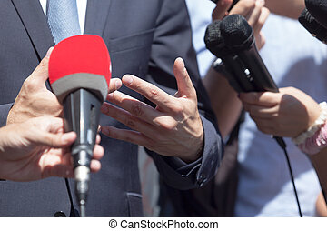 Media or press interview - Press interview with business...