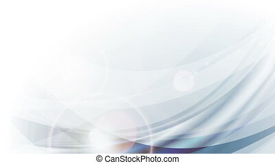 Light blue abstract flowing waves video animation - Light...