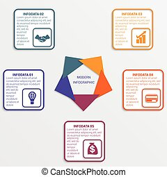 Colour triangles 5 options. - Colour triangles modern...