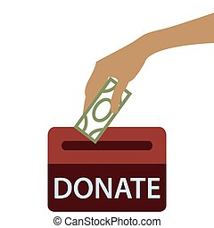 Donation box icon