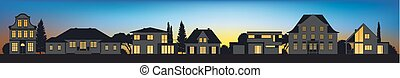different architectural vector home silhouettes - different...