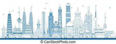 Outline Famous Landmarks in Asia.