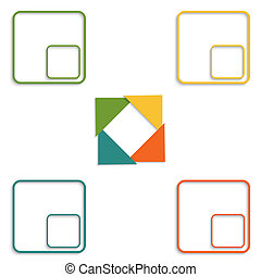 Colour triangles 4 options - Colour triangles modern...
