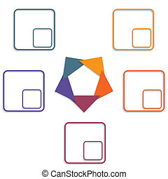 Colour triangles 5 options - Colour triangles modern...