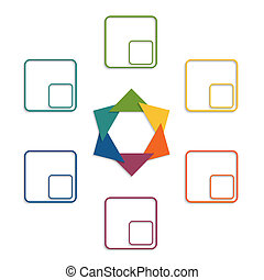 Colour triangles 6 options - Colour triangles modern...