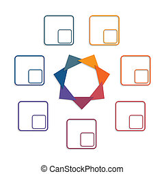 Colour triangles 7 options - Colour triangles modern...