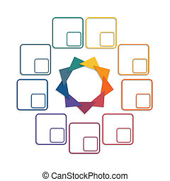 Colour triangles 9 options - Colour triangles modern...