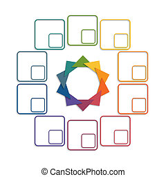 Colour triangles 10 options - Colour triangles modern...
