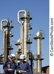 aceite, gas, trabajadores, refinería