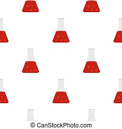 Chemical laboratory transparent flask pattern - Chemical...