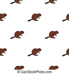 North American beaver pattern seamless for any design...