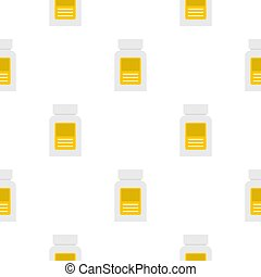 Pharmaceuticals bottle pattern seamless