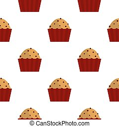 Muffin with raisins pattern seamless for any design...