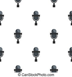 Vintage classic microphone pattern seamless