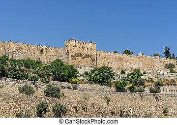 The Golden Gate in Jerusalem, Israel - The Golden Gate or...