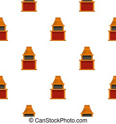 Barbecue gas grill pattern seamless