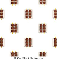 Meat shashlik pattern seamless for any design  illustration