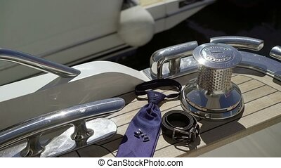 Man's accessories on yacht - Man's accessories on luxury...