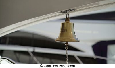 Ship bell on yacht - Ship bell on luxury yacht