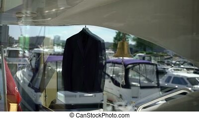 Man's suit on yacht - Man's suit on luxury yacht
