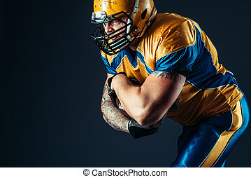 American football offensive player, NFL - American football...