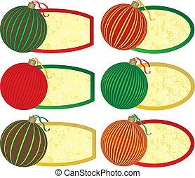 Six Elegant Christmas Tags