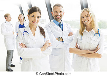 Medical team group portrait