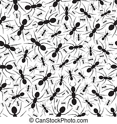 Seamless Repeating Ant Pattern