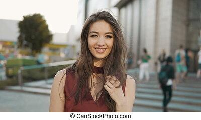 Portrait of Brunette Girl - Portrait of sexy brunette girl...