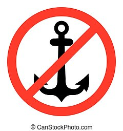No anchor sign