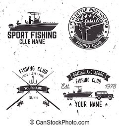 Sport Fishing club. Vector illustration. - Fishing club....