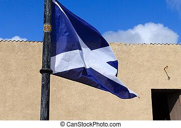 Scottish flag detail