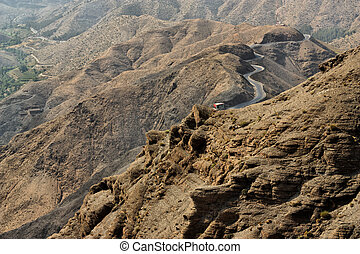 Atlas mountains, Morocco. - A panoramic view of the Atlas...