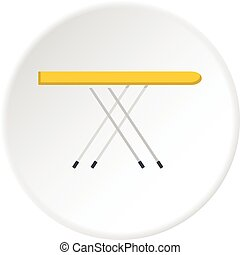 Ironing board icon circle - Ironing board icon in flat...