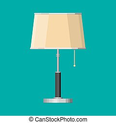 Furniture interior lamp. Lighting equipment. Vector...
