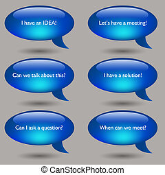 Speech Bubble Message Set - An image of a speech bubble...