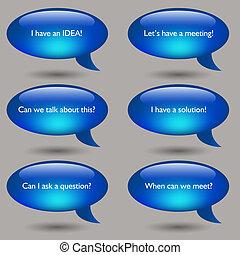 Speech Bubble Message Set - An image of a speech bubble...