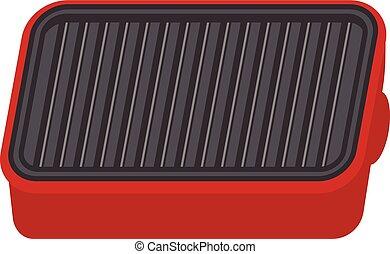 Illustration of Hot plate - Vector illustration. Original...