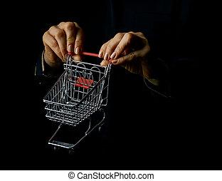 compras de mujer, actuación, aislado, carrito, alameda,...
