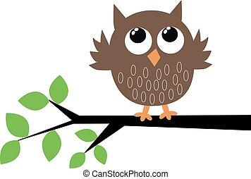 a cute brown owl