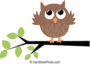 a cute brown owl s