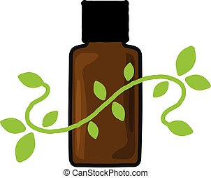 Aromatherapy - An illustration of an aromatherapy bottle.