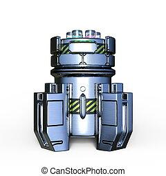 Pressure vessel - 3D CG rendering of a pressure vessel.