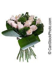 Pink roses bouquet - gorgeous bouquet of pink roses isolated...