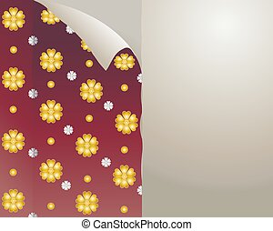peeling wallpaper - an illustration of floral wallpaper...