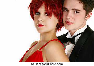 Young Formal Couple - Attractive young couple in formal...