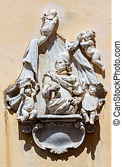 Monument, to Francesco Morosini, hero of the Venetian times....