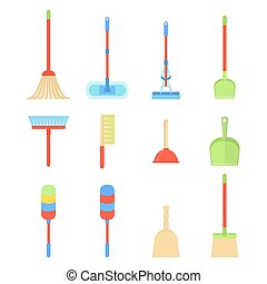 clean toilet icon - Equipment and tools for cleaning...
