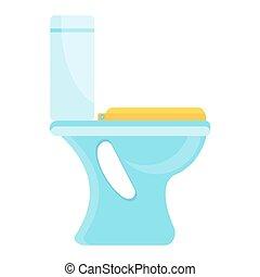 clean toilet icon - White home clean hygienic toilet bowl....