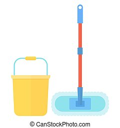 clean bucket mop - Clean tools and equipment. Cleaning mop...